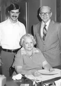 Steve, Lawrence, and Melba in 1976